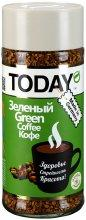 Кофе Today Green 95гр.  с зеленым кофе сублимированный