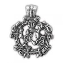 "Амулет защитный ""Сигурд побеждающий Фафнира"", материал - олово"