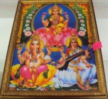 """Картина индийские боги""""Лакшми,Парвати и Ганеша"""""""