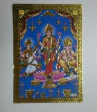 Изображение божеств: Лакшми, Сарасвати, Ганеш