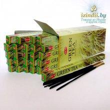 """Благовония """"HEM Green Tea"""" (Зелёный Чай), четырехгранник, 8 палочек"""