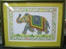"Картина ""Индийский слон""ручная работа"