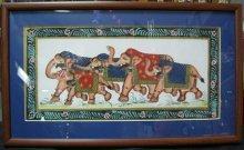 """Картина """"В стране слонят"""" ручная работа"""