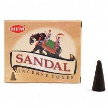 Благовония без основы Sandal (сандал - конус) HEM