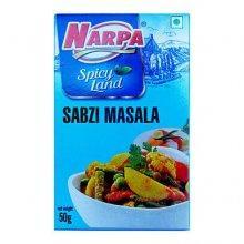 Приправа для овощей. Смесь специй Сабжи масала (Sabzi masala), 50г, Narpa