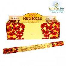 Благовония Tulasi  Red Rose (Красная роза), четырехгранник, 8 палочек