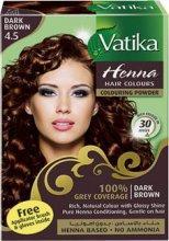 """Краска для волос с хной Vatika Henna Dark Brown """"Темно-коричневый"""",10 гр x 6"""